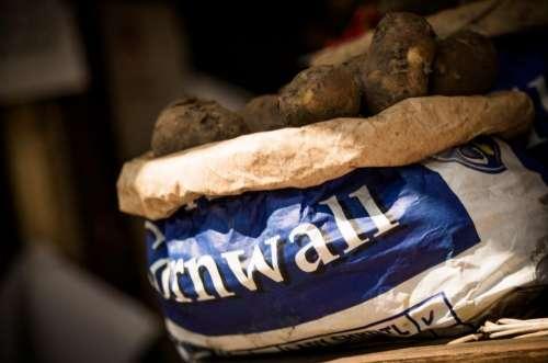 potato vegetable crops food sack