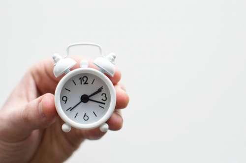tiny alarm clock time hand