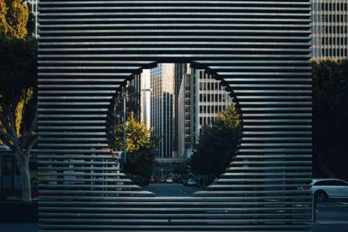 framing photography city cars trees