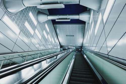 architecture building infrastructure escalator down