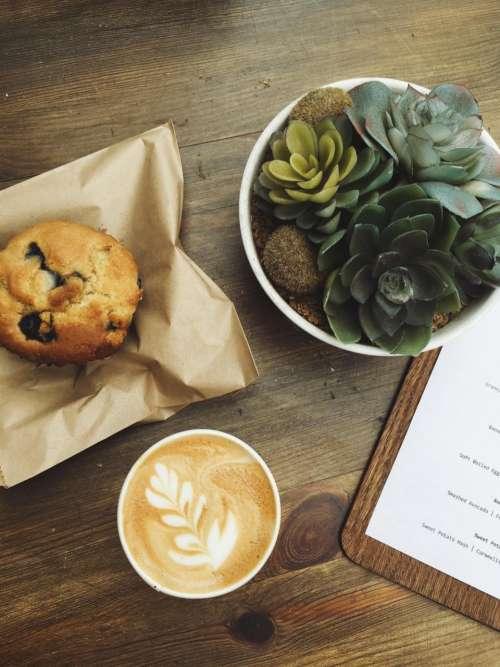 menu boar wooden table coffee