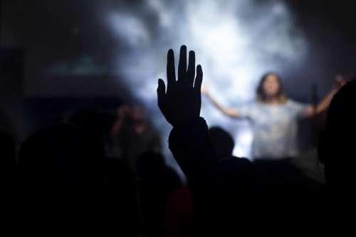 people woman praise worship shadow