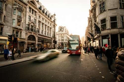 streets bus cars city urban