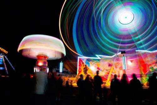 fun carnival lights ferris wheel