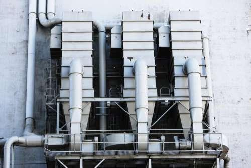 industrial silos vents ventilation pipes