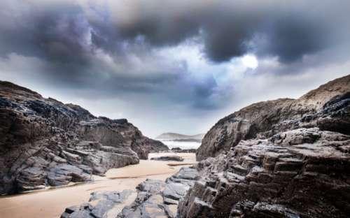beach sand rock beach coast