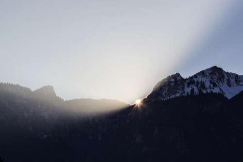 mountain highland sky summit ridge