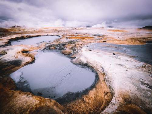mountain highland landscape water nature