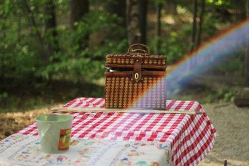 table cloth basket picnic garden