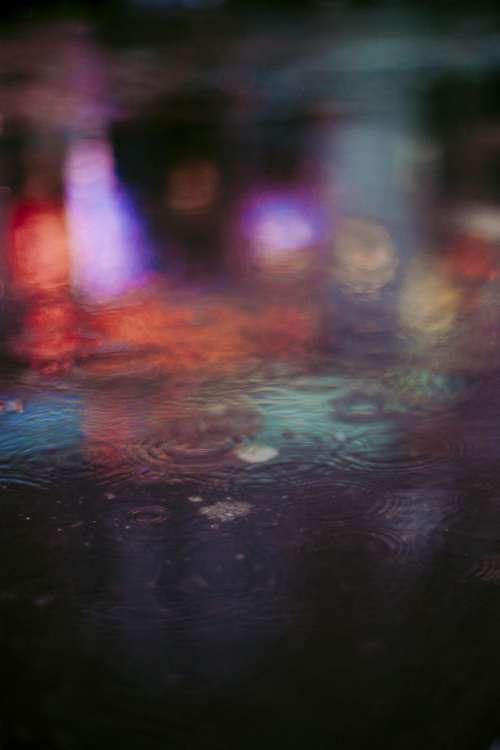 water drop rain colorful urban