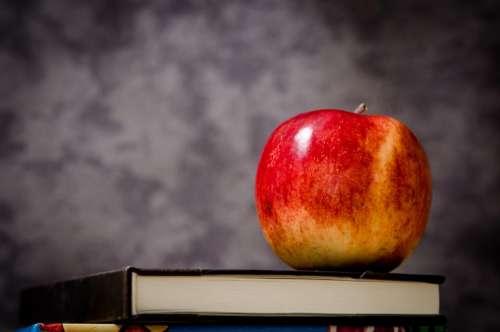 apple textbook book class classroom