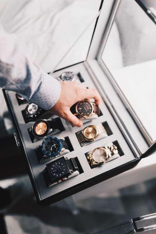 box case watches accessories hand