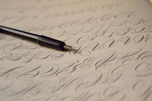 fountain pen nibs ink writing lettering