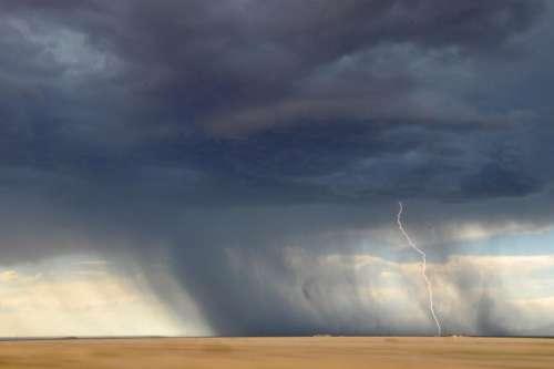 lightning tornado storm sky clouds
