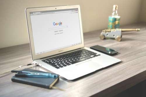 macbook laptop computer technology office