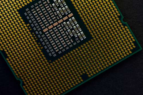 cpu processor chip computer macro