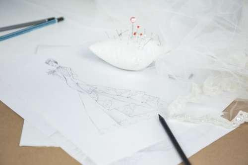 wedding dress sketch drawing pencil
