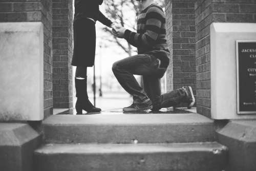 black and white people man woman couple