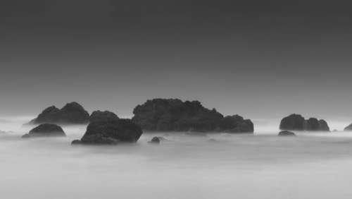 nature landscape fog mountain clouds