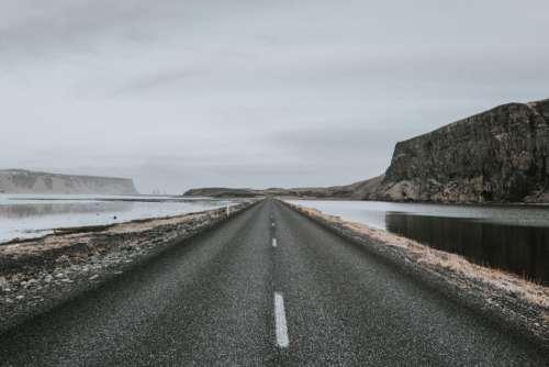 road path highland mountain landscape
