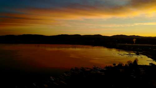 aerial sunset drone sky clouds