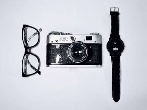 eyeglasses camera watch objects accessories