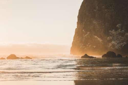 ocean beach cliff travel summer