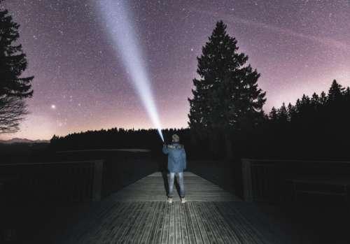 nature landscape dark night constellation