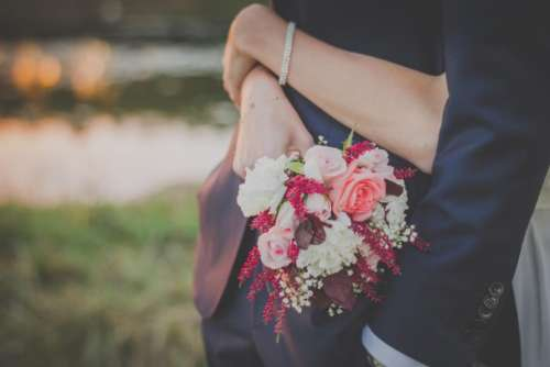 bouquet flowers wedding bride groom