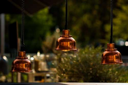 bell sound bokeh restaurant shop