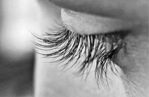 eye lashes macro close up person