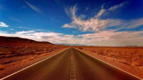 landscape highland desert blue sky