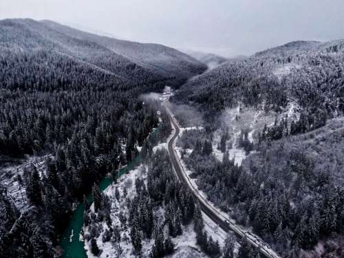 ukraine travel winter snow forest