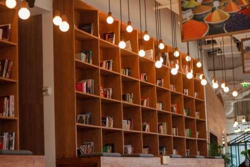 light bulb book library education
