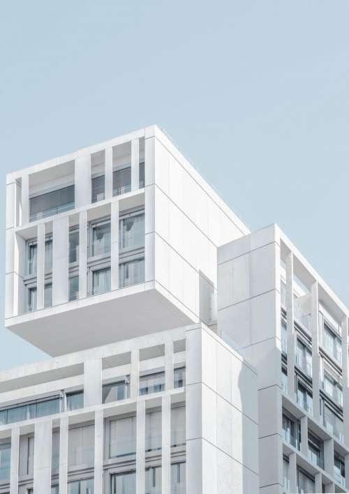 architecture building design infrastructure blue