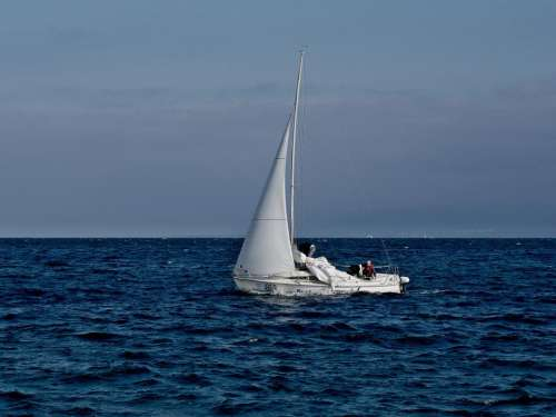 sailboat sailing ocean sea water