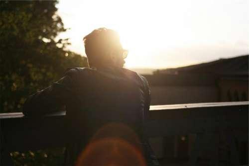 man guy sunglasses leather jacket sunshine