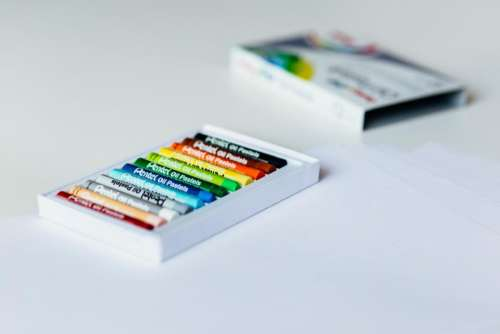 crayons color colorful art box