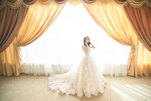 wedding marriage bride gown white