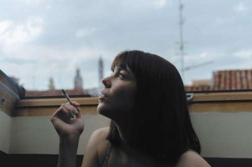 people woman smoke cigarette vice