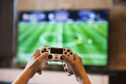 gamer controller television console football