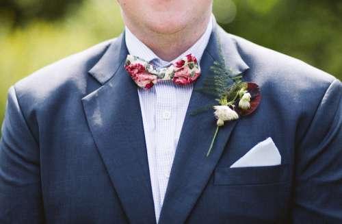groom wedding suit bow tie man