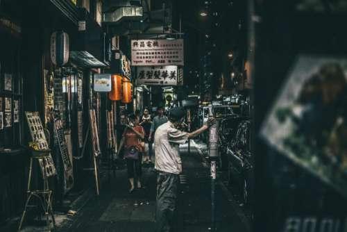 people man china urban city
