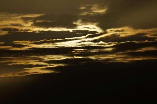 dark clouds sky evening night