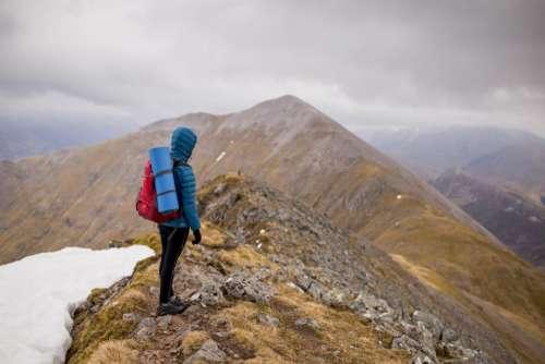 mountain climbing hiking adventure mountaineer