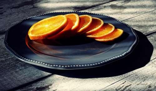orange sliced fruit citrus food