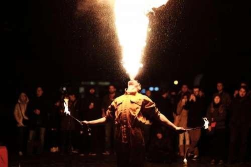 people men dancer dancing fire