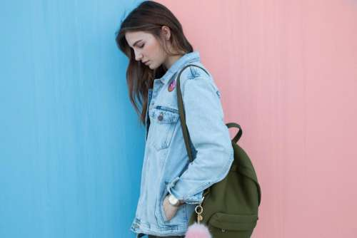 blue denim jacket clothing fashion