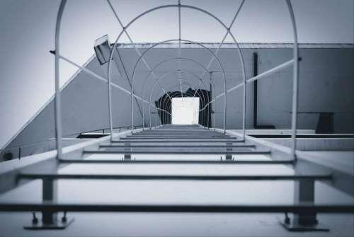 ladder pathway steel metal building