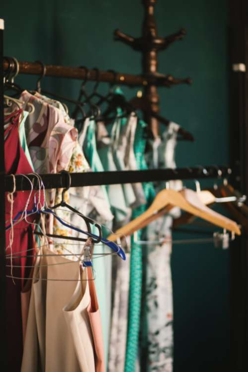 clothes hanger dress fashio female